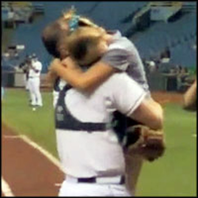 Little Girl Throws the First Pitch at a Game and Gets an Incredible Surprise
