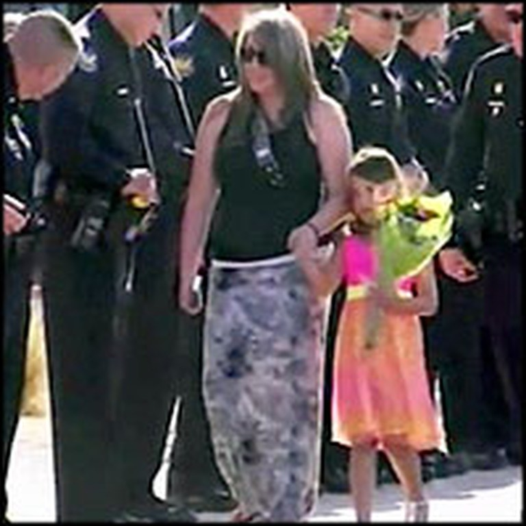Entire Police Force Supports a Girl at Her Kindergarten Graduation