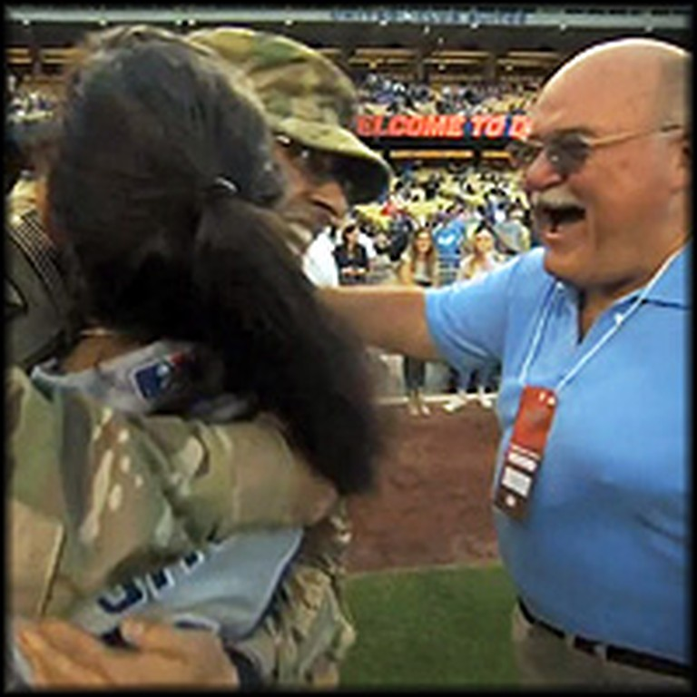 Soldier Happily Surprises His Parents at a MLB Game