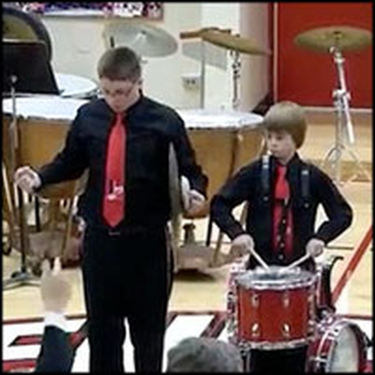 Patriotic Boy Does Something Awesome After Mid-Performance Mistake