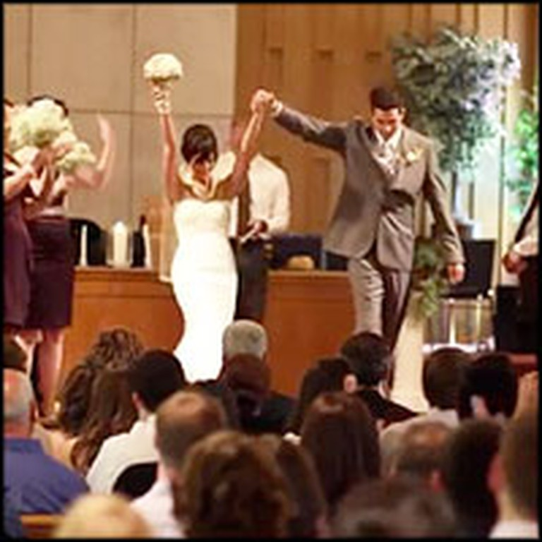 Wedding Party Does The Funniest Thing After Saying I Do