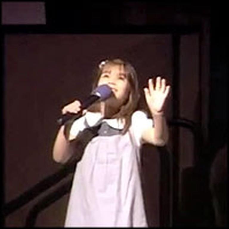 Adorable Kaitlyn Maher Sweetly Sings America the Beautiful