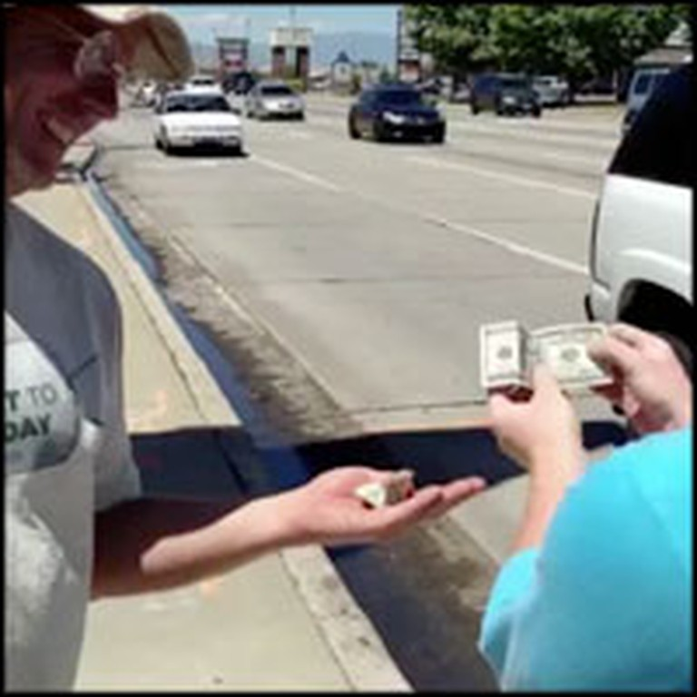 Talented Street Magician Performs Kindest Trick For People in Need
