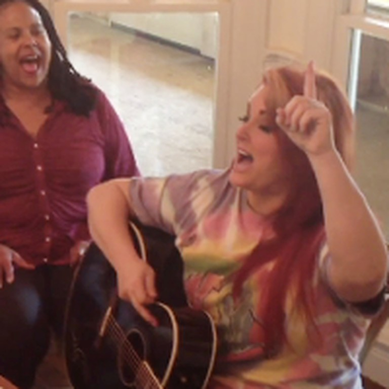 Wynonna Sings Testify to Love Right in Her Kitchen