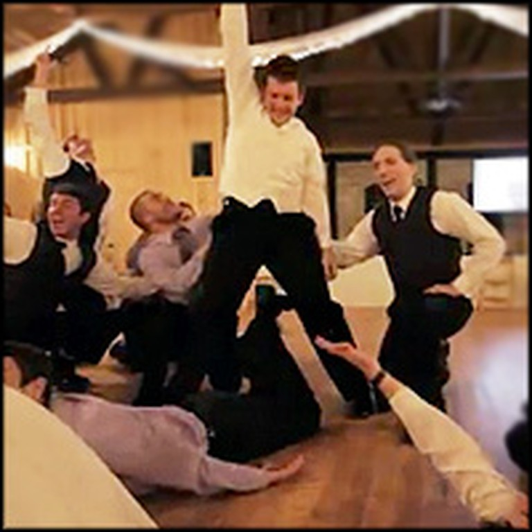 Handsome Groomsmen Perform a Perfectly Choreographed Dance for the Bride