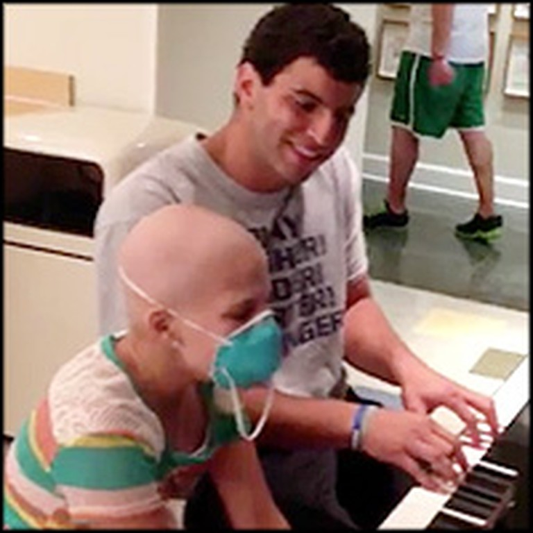 College Football Player Performs a Touching Duet With a Girl Battling Cancer
