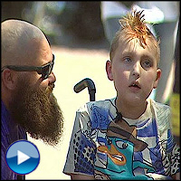Kind Biker Gang Give a Boy Fighting Cancer a Birthday Surprise