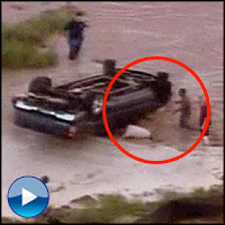 Good Samaritans Rescue Children Trapped Underwater in Car