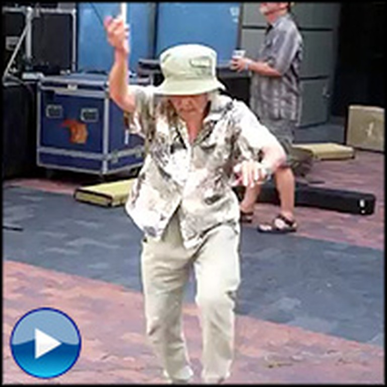 World's Happiest Grandma Loves to Dance - This Video is the Best