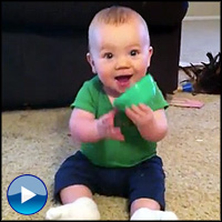 Adorable Baby has the Best Reaction When His Daddy Comes Home