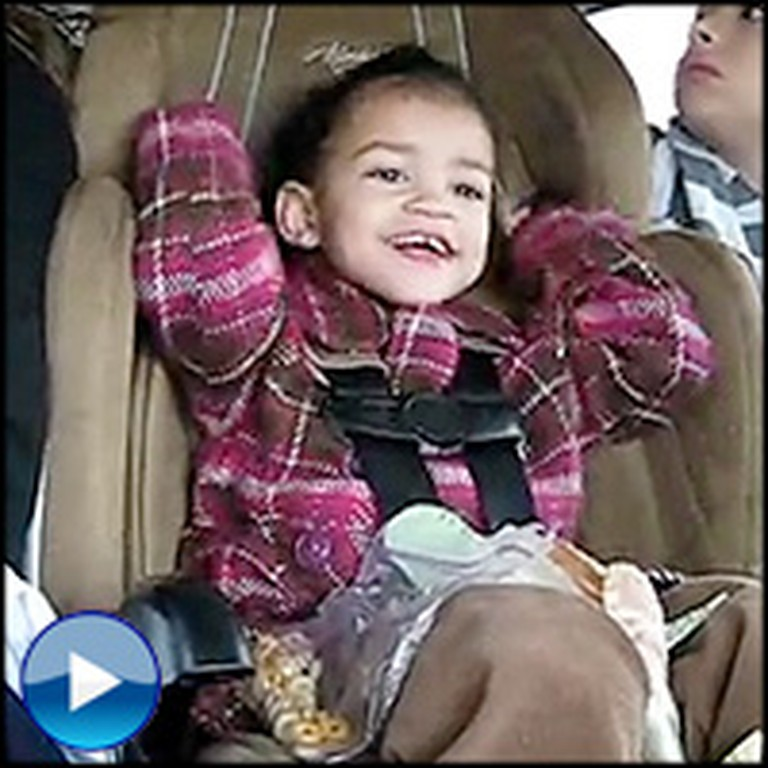 Joyful Baby Has a Dance Party in the Back Seat - LOL