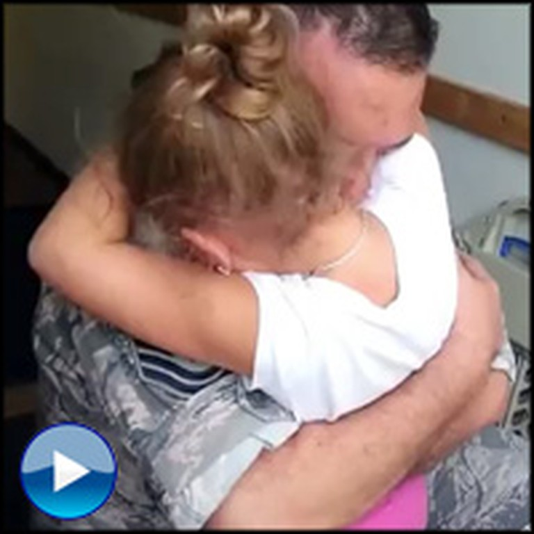 Airman Surprises His Little Girl at School and She Has the Cutest Reaction