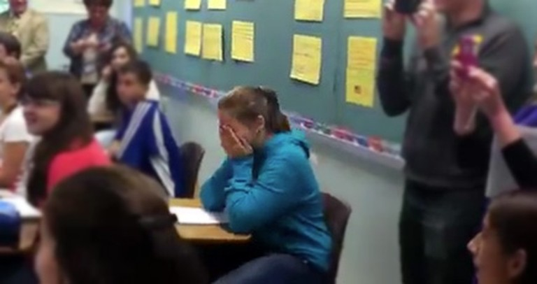 See What One Soldier Did to Make His Step-daughter BURST Into Tears!