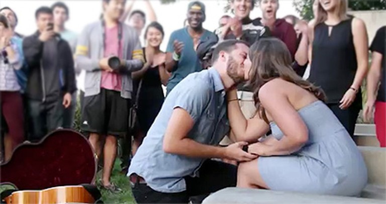 A Woman's Friends, Family and Boyfriend Create the Most Epic Proposal