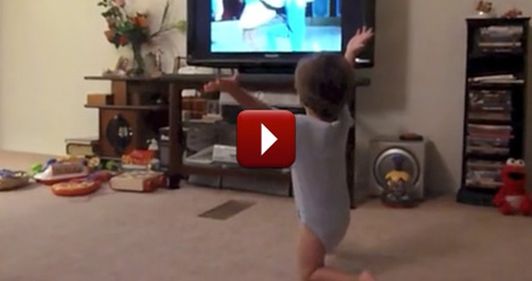 One Happy Toddler Tries Out Some Classic Dance Moves - Way to Boogie, Baby!