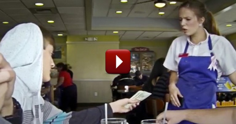 Young Man Shows Server an Amazing Act of Kindness - With a HUGE Tip