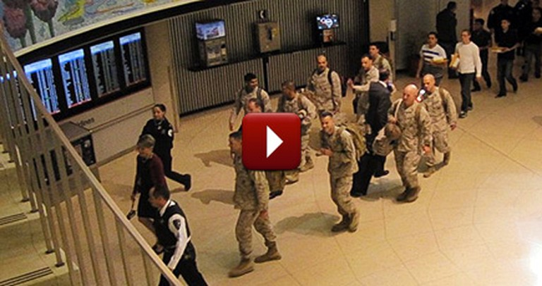 First Class Passengers Show Incredible Respect for Returning Soldiers