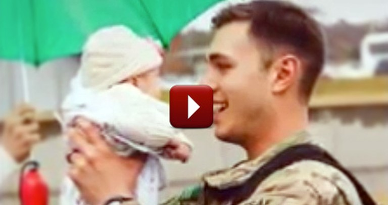 A Soldier Meets His Newborn Daughter for the Very First Time - So Sweet