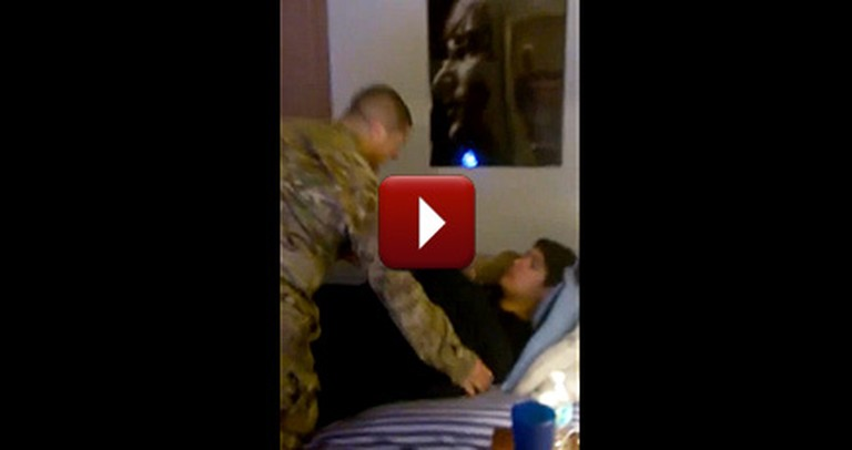 A Boy's Reaction to His Brother's Secret Homecoming Will Put a Smile on Your Face