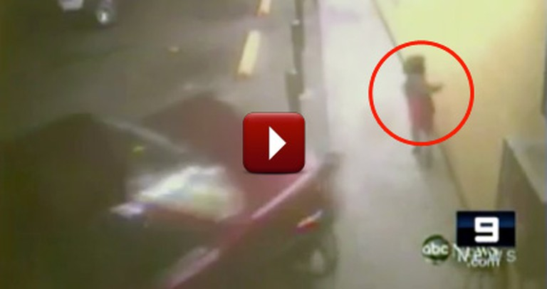 Miracle Escape - Young Girl is Saved From Being Hit by a Drunk Driver