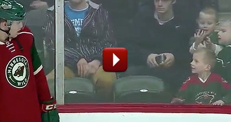 A Hockey Player's Simple Act of Kindness Made This Boy's Day