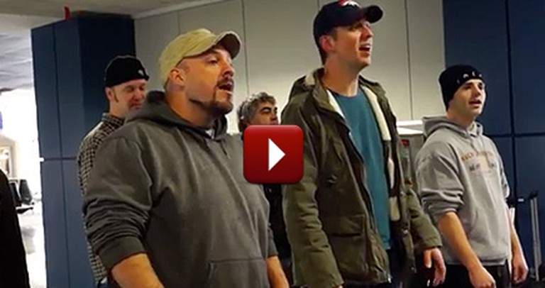 An A Cappella Group Does Something So Cool When Their Flight is Delayed
