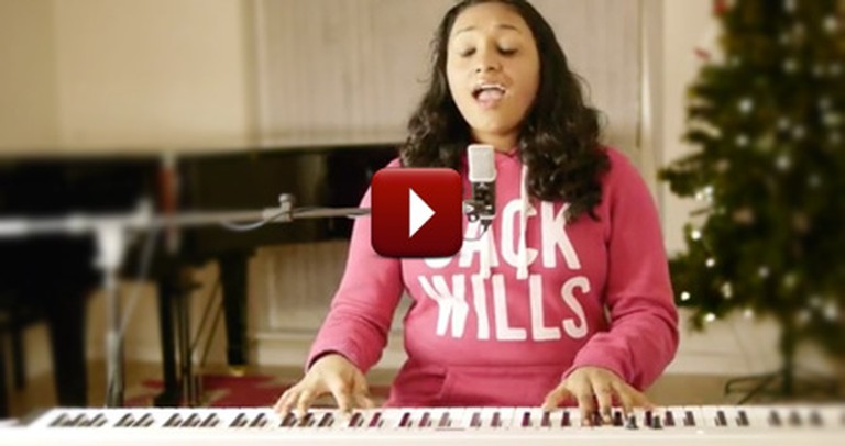A 12 Year-Old Performs Stunning Version of a Classic Christmas Song
