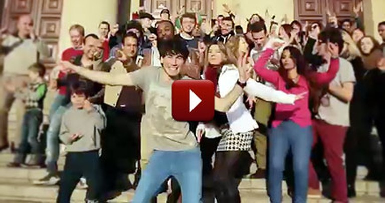 Worldwide Flashmob Will Inspire You to Get Up and Dance - Be Happy