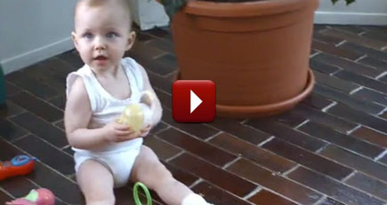 30 Seconds Into This Cute Baby Video, Something Awesome Happens