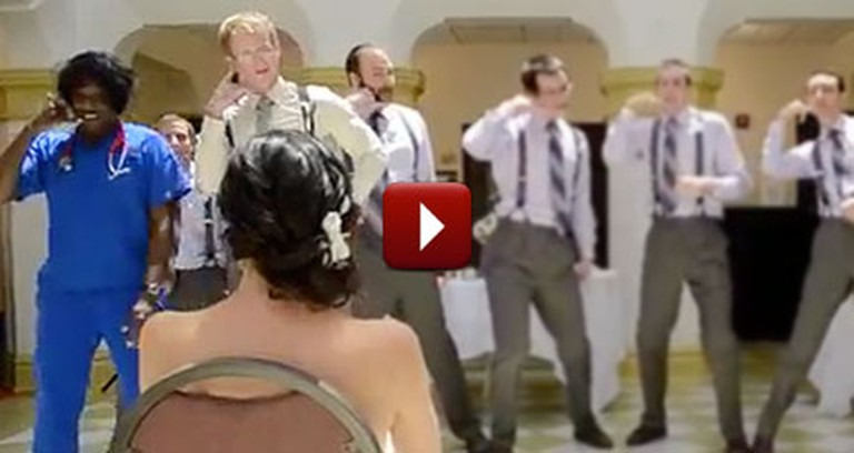 Silly Groom Surprised Bride With a Gift That Kept Her Laughing