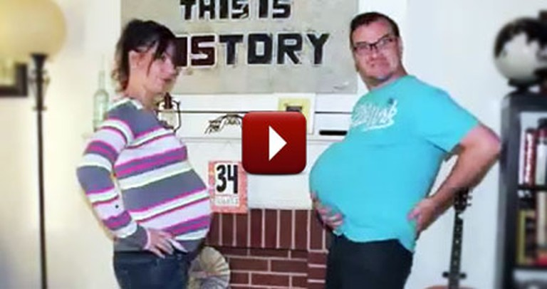 You'll Love This Hilarious & Heartwarming Pregnancy Time Lapse