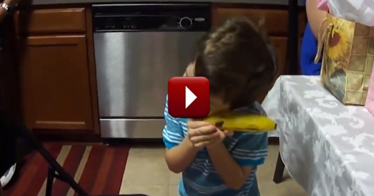 Little Boy is Adorably Excited by Prank Gift