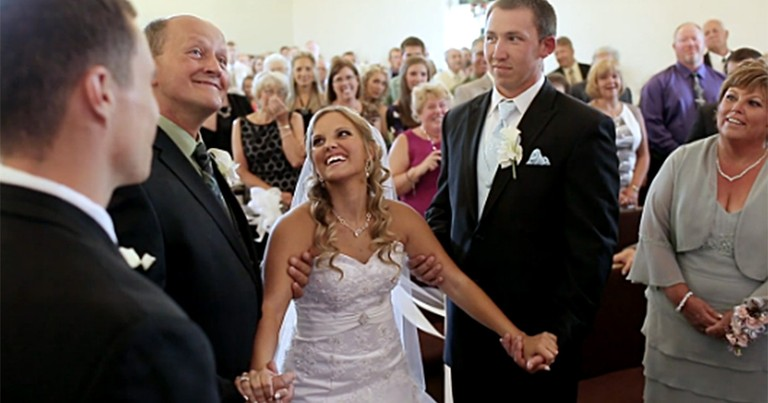 Heroic Bride Was Paralyzed Saving Someone's Life - and She Got Her Own Miracle
