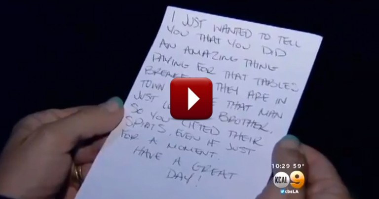 When You Find Out Why This Act of Kindness is Special, You'll Cry