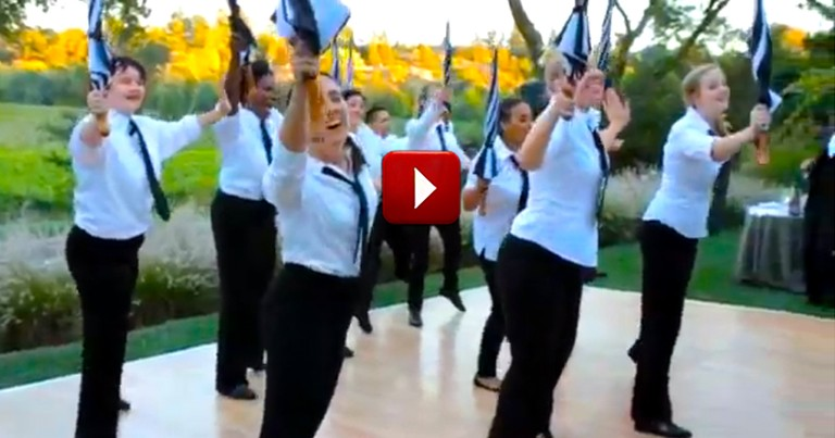 Groom Asks the Wait Staff to Do Something Awesome for His Bride