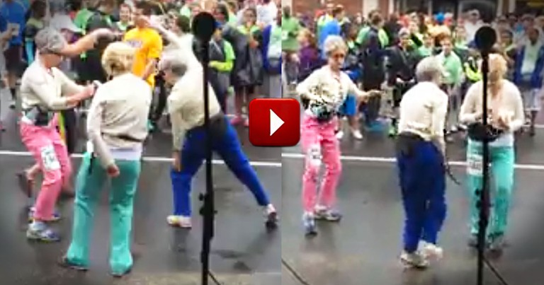 How These Grooving Grannies Warmed Up for a Race Warmed My Heart!