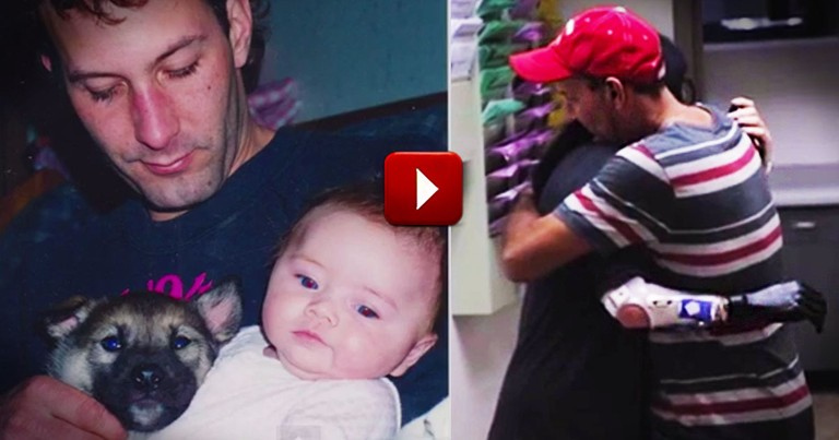 How This Father-Daughter Hug Was Made Possible Left Me In Tears. Seriously, I'm Sobbing.