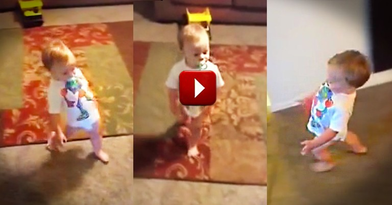 When You See Why This Boy Waddles You'll LOL. At 40 Seconds It All Makes Sense. Awww!