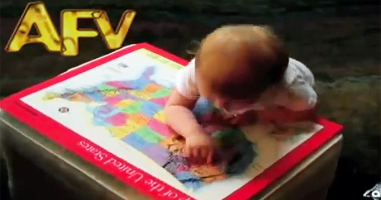 Smart Baby Does Something Cute When She Gets an Answer Right