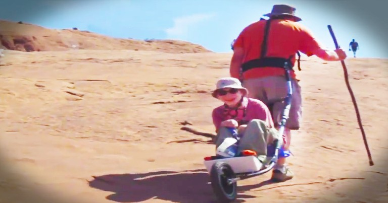 What This Father Does For His Son Is Enough To Bring You To Tears. Aint' No Mountain High Enough!