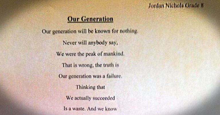 This Poem Read 1 Way Is Terribly Tragic. But When You Read It Backwards-WHOA!