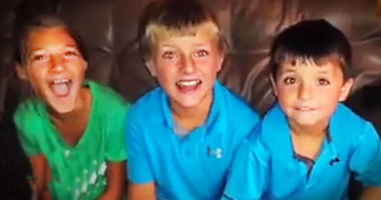 When These Kids Learned The Truth About Mom's Secret, They Were Jumping For Joy. I LOL At 1:01!