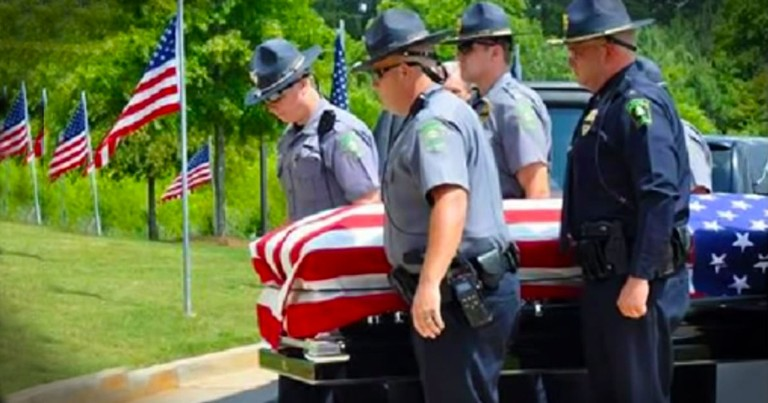 This Officer Payed The Ultimate Price. And When You See The 'Thank You' He Got You'll Need Tissues!