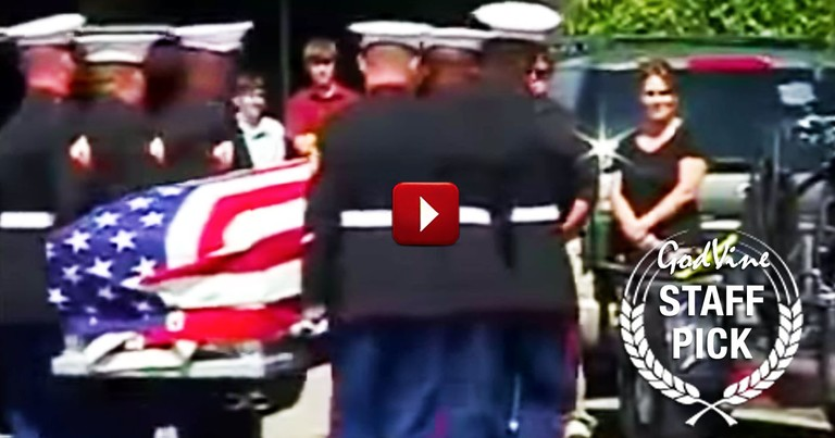 Christian Veterans Protect the Funeral of a Fallen Soldier