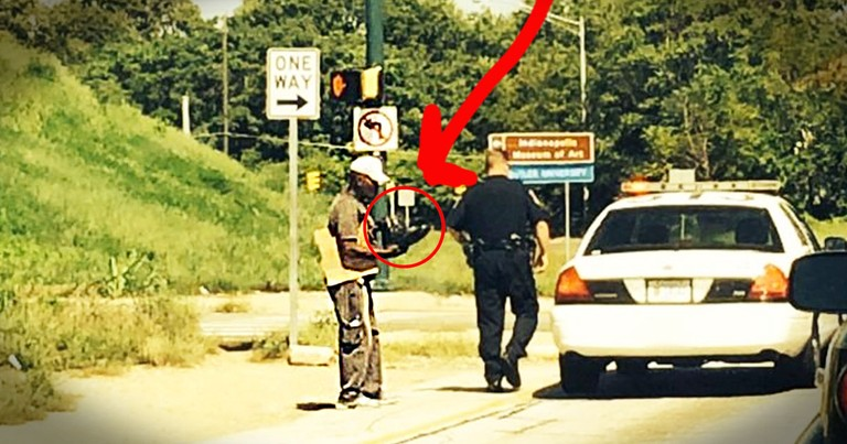 This Homeless Man Thought The Officer Was Giving Him A Ticket. What He Got Instead Will Stun You!