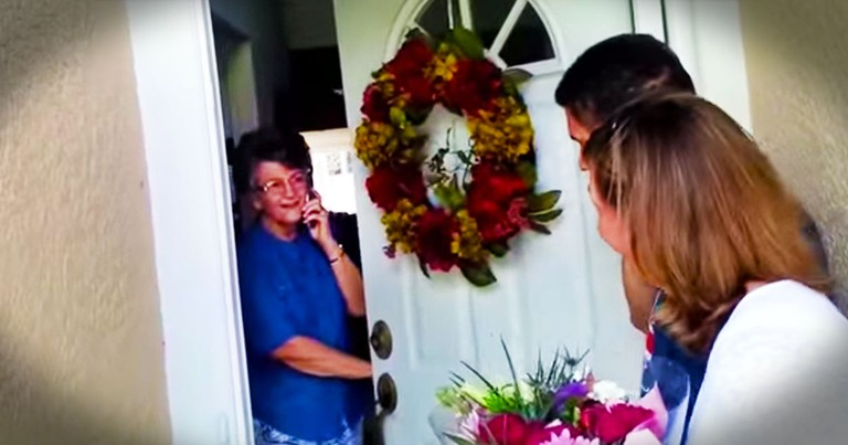 This Grandma Put Her Family's Call On Hold When The Doorbell Rang. What Happened Next Is AWESOME!