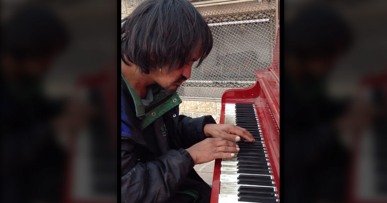 When This Homeless Man Stepped Up To The Piano, No One Expected THIS. WOW!