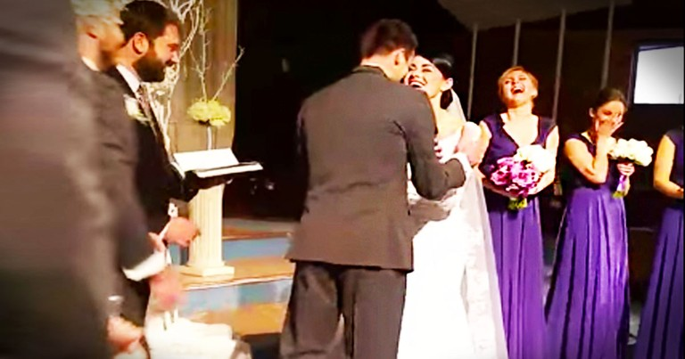What This Groom Did At The Altar Surprised Everyone. Apparently, He's Excited To Be Married--LOL!