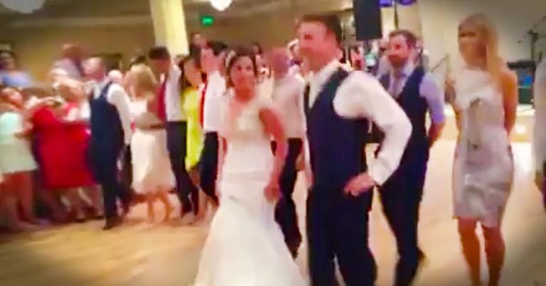 Irish Dancers Break Out A Flashmob At A Wedding