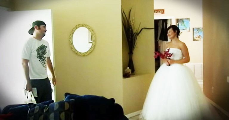 A Wife Gives Her Husband A Touching Anniversary Surprise